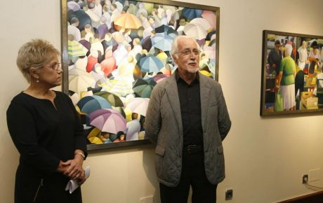 Inauguración de la exposición «La alegría del color» en el Espacio de Arte, 2014