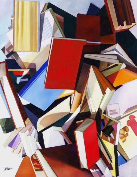 'Libros en el suelo'