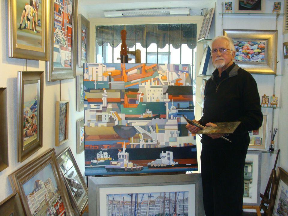 'Jose Ramon en su Galeria'