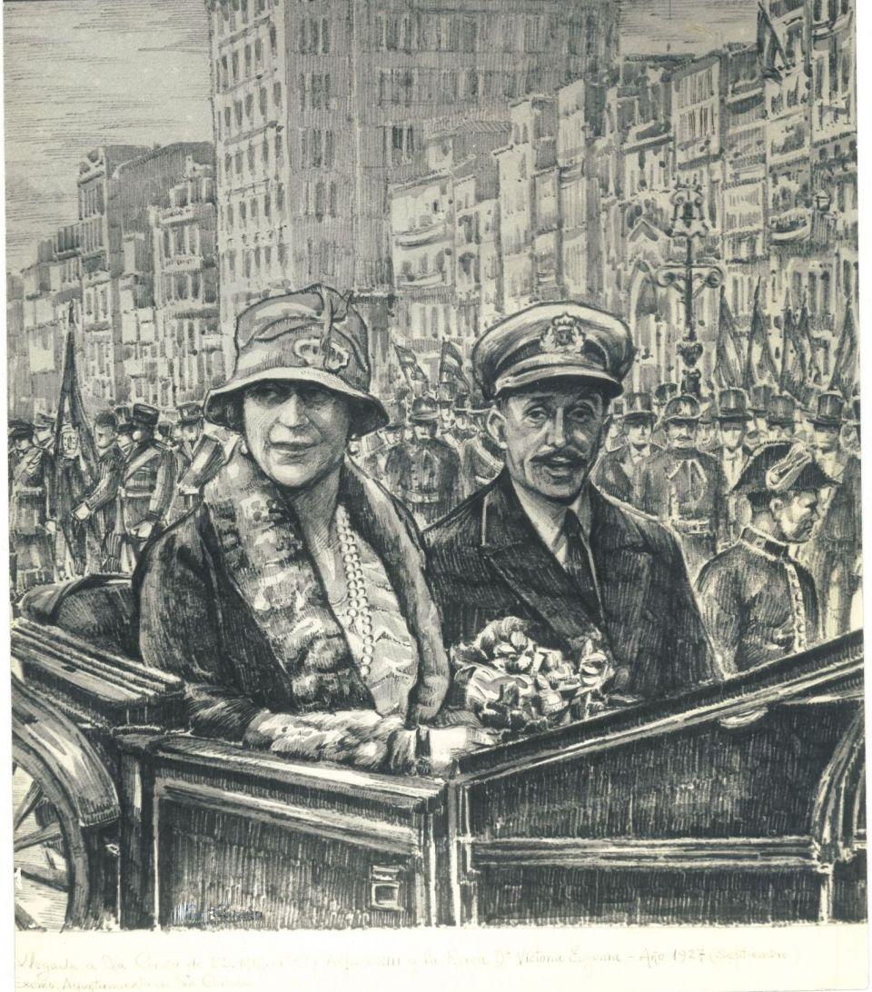 'Don Alfonso XIII y Dona Victoria Eugenia'