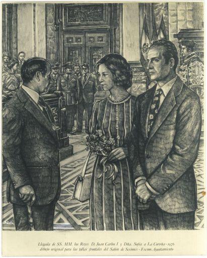 'Recepcion de los Reyes Juan Carlos y Sofia'