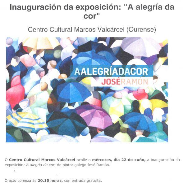 'Inauguracion de exposicion del artista gallego Jose Ramon'