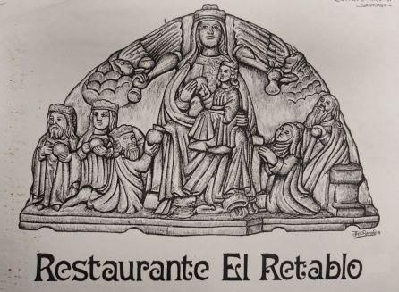 'Mural para el restaurante El Retablo de Santiago de Compostela del artista gallego Jose Ramon'